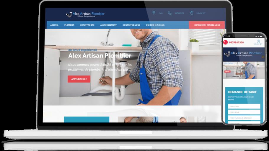 site web alex-artisan-plombier