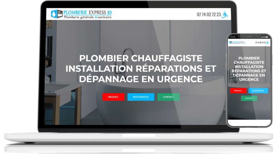 site web plomberie-express83
